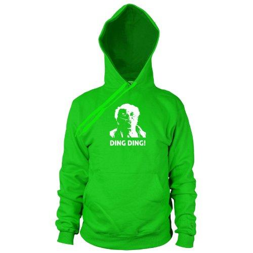 Planet Nerd Ding Ding - Herren Hooded Sweater, Größe: XL, Farbe: grün (Hector Breaking Bad Kostüm)
