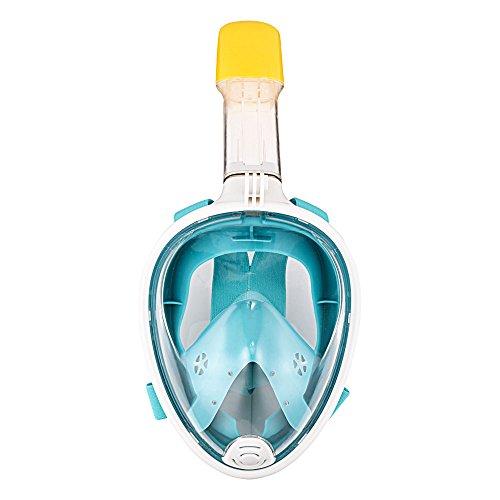 Preisvergleich Produktbild Schnorchelmaske Vollmaske, Gofun Tauchmaske Anti-Fog und Anti-Leck-Technologie mit 180 Grad Blickfeld für Erwachsene und Kinder (Grün, S/M)