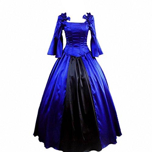 Partiss Damen BallGown Prom Vintage Masquerade gotische Lolita Cosplay Abendkleid