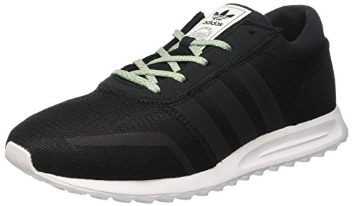 Adidas los angeles, scarpe da ginnastica basse uomo, nero core black/ftwr white, 42 2/3 eu