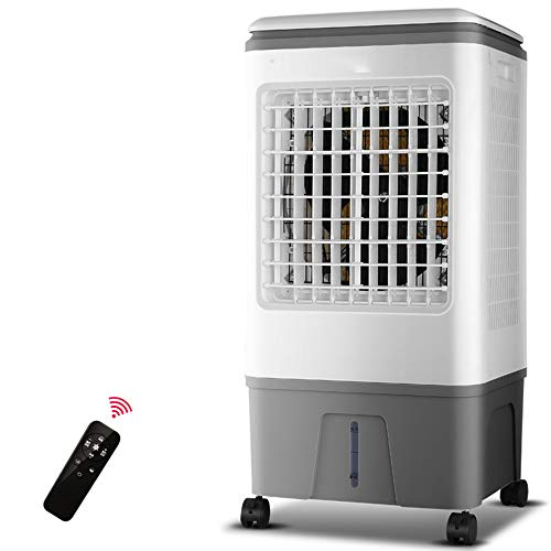 Lüfter ZR- Klimaanlage Wasser Hinzufügen Verdunstend Klimaanlage Geschäft Industrie Kalter Fernbedienung 3 Geschwindigkeiten, 3 Windeinstellungen, 13L Wassertank, 80W