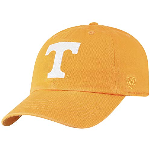 Top of the World NCAA Tennessee Volunteers Women's Womens Adjustable Relaxed Fit Team Icon Hat, Light Orange