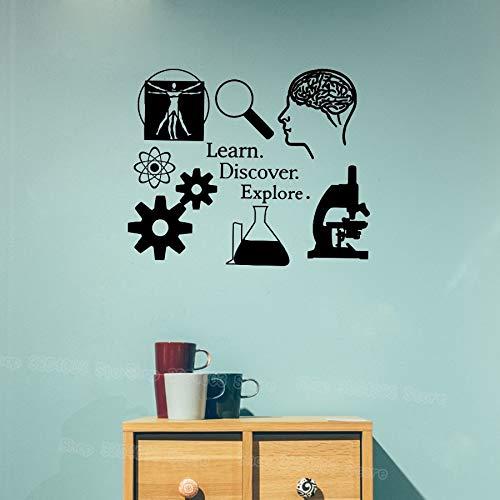 Lernen Entdecken Entdecken Wandaufkleber Wissenschaft Aufkleber Lernen Ich liebe Wissenschaft Klassenzimmer Dekor Wissenschaftler Aufkleber für Lehrer