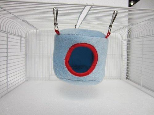 Bleu Hamac lit suspendu Maison à Rat Oiseau Hamster furets Parrot Toy souris