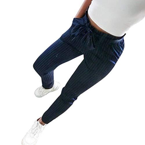 Ode Joy Striscia Pantaloni a Vita Alta-Athletic Pantalone - Pantaloni Donna  Eleg 3657f67ac4d