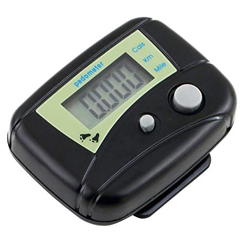 Mini Porta Wristband Pedometer Digit LCD Run Step Walking Distance Calorie Counter Held Tally Row Counter &191 : Black