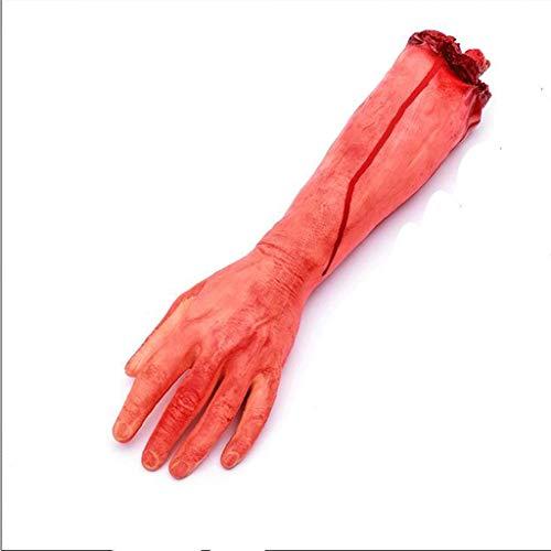 Gefälschte Menschliche Abgetrennte Armhände, Halloween Abgetrennte Hände, Lebensgroße, Blutige Leichenteile Für Halloween-Dekorationen Party Favors,L (Abgetrennte Hand Kostüm)