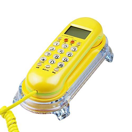 Telefono fisso camera d'albergo a muro home caller id piccolo telefono di estensione - giallo
