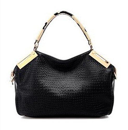 CHAOYANG-borse diagonali signora borsa a tracolla portatile del messaggero della borsa della borsa autunno e in inverno , treasure blue Black