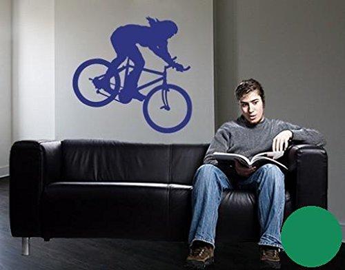Klebefieber Wandtattoo Mountainbike B x H: 40cm x 40cm Farbe: grün