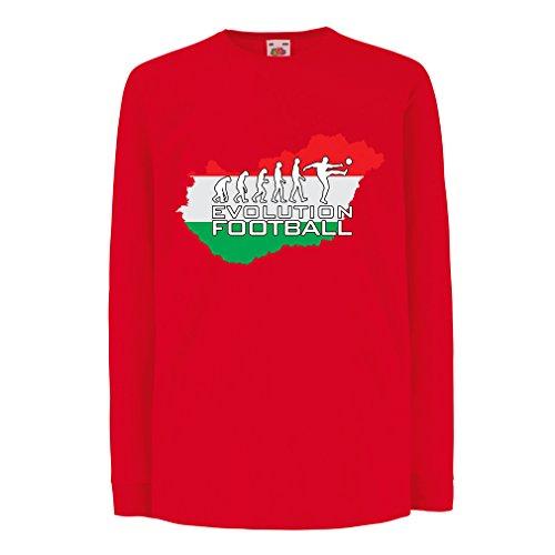 angen Ärmeln The Hungary National Football Team Evolution (5-6 Years Rot Mehrfarben) ()