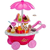 Elektra ABS Plastic Ice Cream Play Cart Kitchen Set Toy with Lights and Music