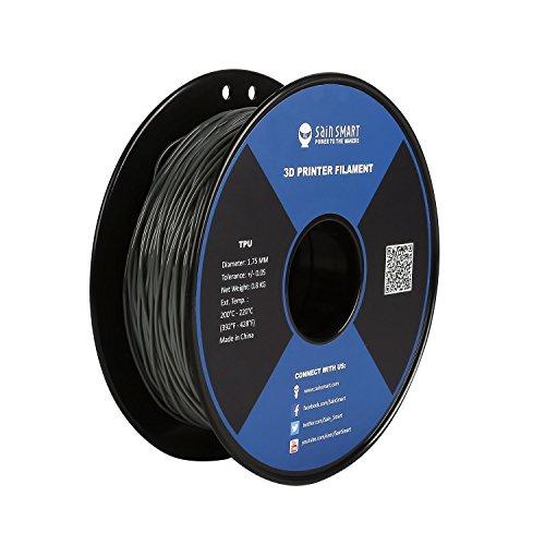 SainSmart TPU 3D-Drucker Filament, 1,75 mm, 0,8 kg, Grau