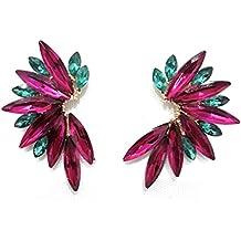500bf025767b Pendientes Cristales Colores Mujer Pendientes Fiesta Boda Medio Aro