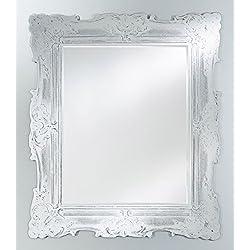 Casa Padrino espejo barroco blanco antiguo 106 x H. 125 cm - Noble y Suntuoso