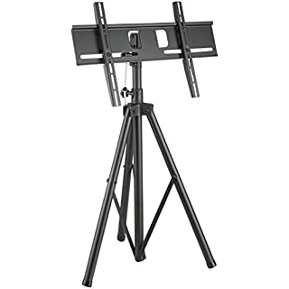 TP941 Tripod Portable Floor Stand with Vesa Mounting Bracket Universal for 32-51 inch LCD/LED Plasma TV, Tilt up/down 20°, Freely Pan 360°, Max Height 180 cm, Up to Vesa 600 x 400