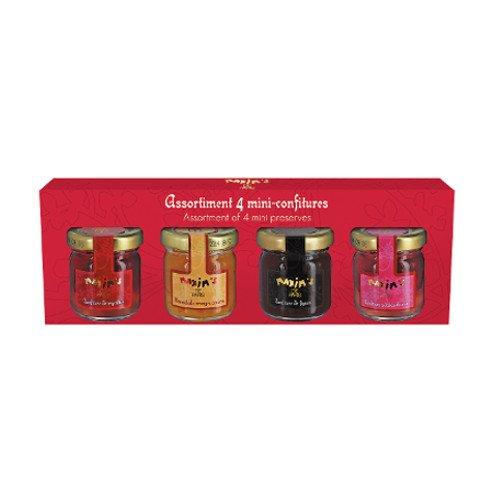 Gourmand-Set von 4 Marmeladen und Konfitüren aus Frankreich - 4x 42g