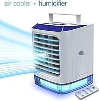 Aire Acondicionado Portátil de [Vhool-EU] 4en1 Mini Ventilador Humidificador Purificador, USB Air Cooler con 3...