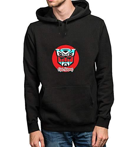 Old School Retro Logo_R5146 Hoodie Kapuzenpullover Jumper Sweater Pullover Sweatshirt Unisex Black Gift- L Black Hoodie ()