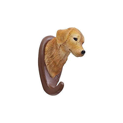 gem Kunstharz Tiere Kopf Haken Wand montiert Einzel-Aufhänger Craft Decor für Cafe Home hund ()