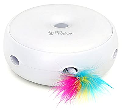 PetFusion AMBUSH Electronic Cat Toy with Feather rotating for an interactive hunting experience (batteries included)