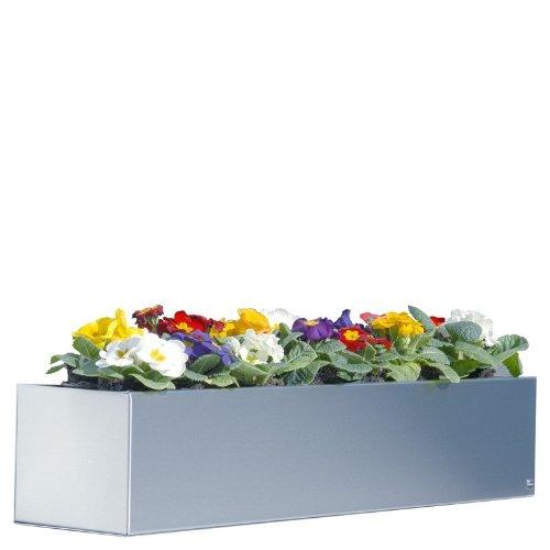 Blumenkasten Edelstahl 100