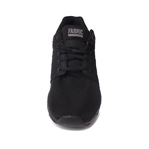 Fabric Mens Reup Runner Trainers Lace Up Sports Shoes Pumps Footwear Black/Black UK 10 (44)