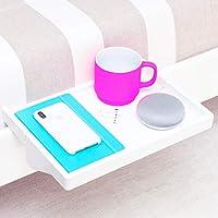 BedShelfie Das Original Bambus Nachttisch-Regal - 3 Farben - Gesehen auf Business-Insider und Kickstarter (in Weiß)