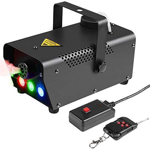 HLGY Nebelmaschine Funkfernbedienung Nebelmaschine Mit RGB-LED-Farblicht - Bühnenausstattung Für Halloween-Hochzeitsbar Christmas Party Club DJ (Halloween Maschine Nebel Für)