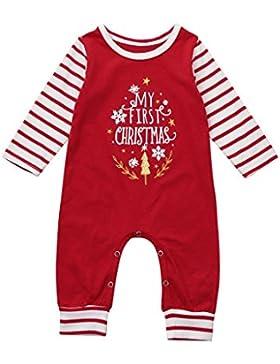 erthome Baby Weihnachten Kleidung Neugeborene Mädchen Jungen Strampler Jumpsuit