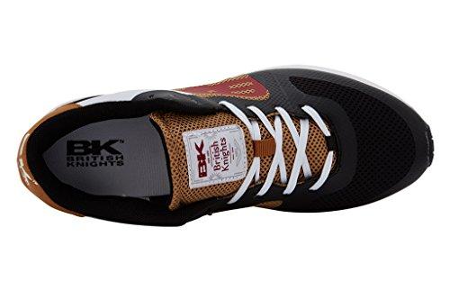 Sneakers British Cavaliere Damen Impact Nero / Senape Scura / Rosso Scuro