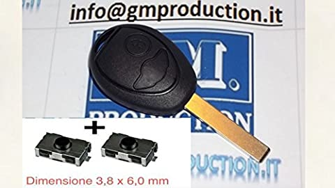 G.M. Production 1892+ 2SW1–logoless Coque pour clé de voiture BMW/Mini commande à distance + 2interrupteurs [Tester la photo et les données sur compatibilité]