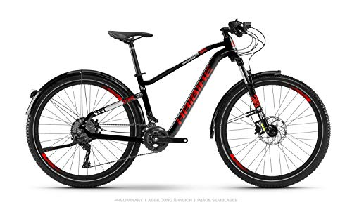 Haibike SEET HardSeven 2.5 Street Mountain Bike 2019 (XS/35cm, Schwarz/Rot/Weiß matt) -