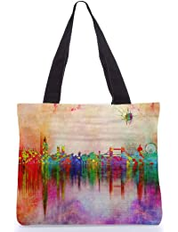 Snoogg Tote Bag 13.5 X 15 Inches Shopping Utility Tote Bag Made From Polyester Canvas - B01GCIMP5G