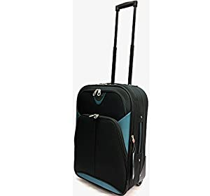 Ryanair & EasyJet Lightweight Expandable Cabin Approved Trolley 2 Wheeled Luggage Bag (18 inch FITS WITHIN 55 x 40 x 20cm & 21 inch FITS WITHIN 56 x 45 x 25cm)