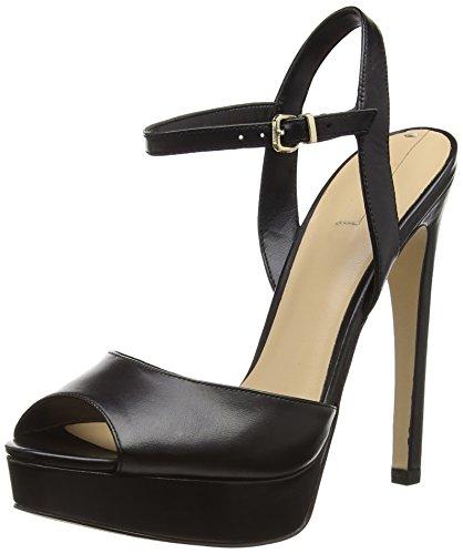ALDO Wrighta, Sandales Plateau femme Noir (Black Leather / 97)