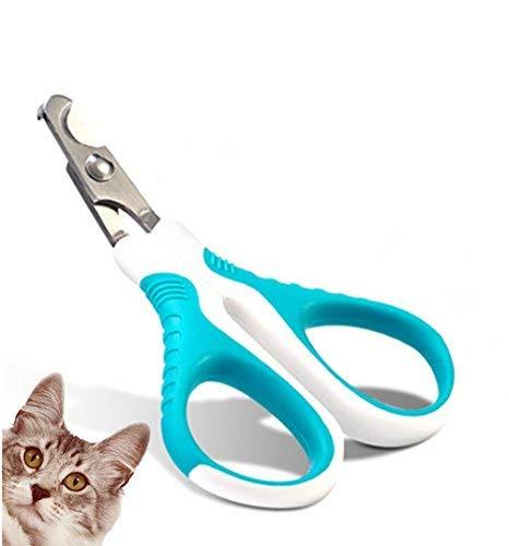 Nagelknipser für Katzen, für kleine Tiere, sicher, professionell, scharfe, abgewinkelte Klinge - Rutschfester Griff - Nagelknipser für Katzen und Hunde - einfach zu Hause (Hund Nagelknipser Einfach)