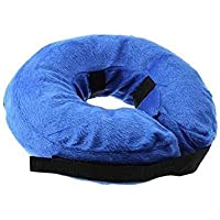 KOBWA Pet Inflatable Collar for Large Dogs, Comfy Pet Collar Cone for Revecovery, Inflatable Basic Dog Collars, L