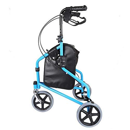 Xiaotian Senior Einkaufswagen Trolley Senior Walker Kaufen Sie Lebensmittel zu Fuß Auto Faltbare Bequeme Dreirad-Roller