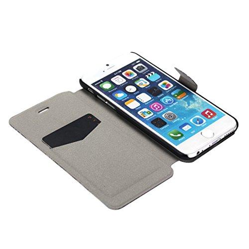 """MOONCASE pour iPhone 6 (4.7"""") Coque en Cuir Housse de Portefeuille Protection Étui à rabat Case Mi13 Mi03 #1130"""