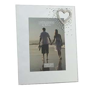 juliana bilderrahmen aus glas love verspiegelt 20 3 x 25 4 cm mit kristall herz wg54680. Black Bedroom Furniture Sets. Home Design Ideas