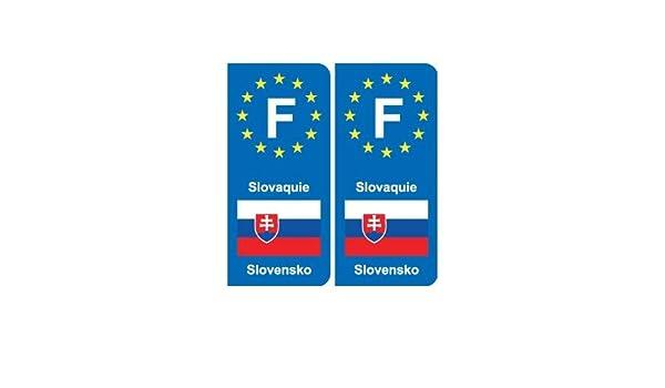 droits Slovaquie Slovensko europe autocollant plaque