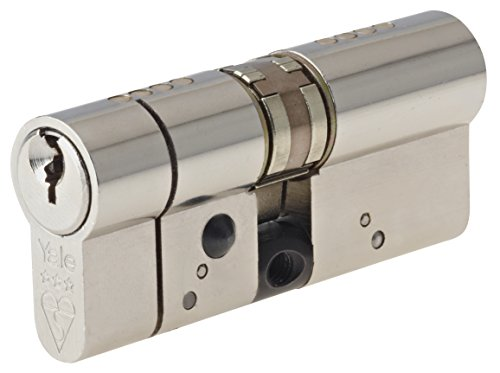 Yale Locks YALASP5040N 90 mm Anti-Snap Platinum Euro Cylinder