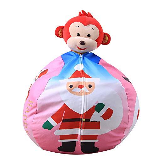 LoveLeiter Weihnachten Kinder gefüllt Geschenk lustige Candy Toy Storage Bean Bag Weichen Streifen Stoff Stuhl Weihnachten Mädchen Junge Kreatives Geschenk Neuheit (Rosa)