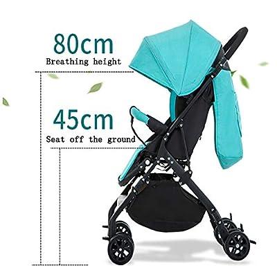PQ&D Cochecito Doble de Alta Vista, Cochecito portátil Multiusos para bebé Cochecito Doble Agregar Bolsa de Almacenamiento Toldo Ajustable