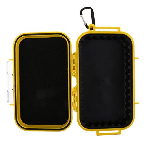 Sharplace Stoßfest und Wasserdichte Boxen Im Freien Aufbewahrungsbox Kunstoff Behälter Kasten - Gelb -