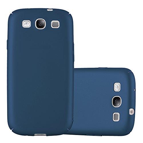 Cadorabo Custodia per Samsung Galaxy S3 / S3 Neo in Azzurro Metallo – Rigida Cover Protettiva Sottile con Bordo Protezione – Back Hard Case Ultra Slim Bumper Antiurto Guscio Plastica