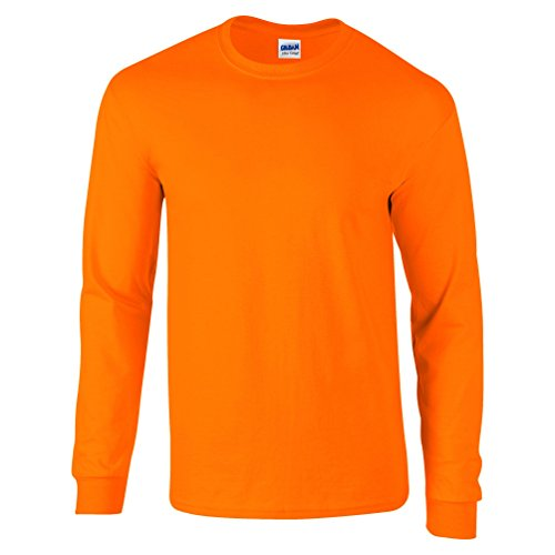 Ultra Cotton Classic Fit Adult T-Shirt - Farbe: Safety Orange - Größe: L (Grey-t-shirt Polo-ash)