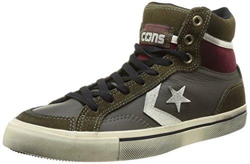 146215C CONVERSE Pineneedle pro blaze hi toutes les chaussures en cuir mi étoiles usisex Kaki