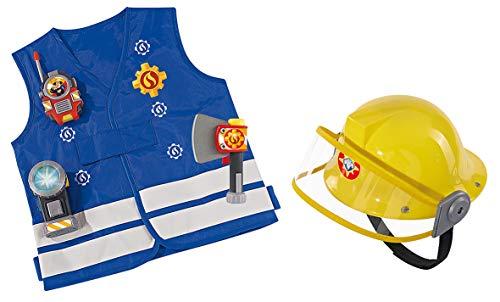 Smoby-kit sam il pompiere + cuffie, 109250745smo, blu